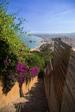 Stairway in Costa brava Royalty Free Stock Images