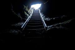 Stairway da caverna imagens de stock