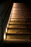Stairway in the dark Royalty Free Stock Photos
