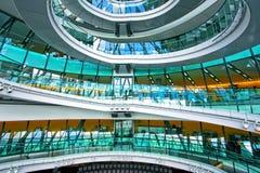 Stairway de vidro Imagem de Stock Royalty Free