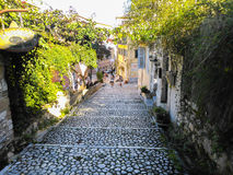 Path in Corfu old town Royalty Free Stock Photo