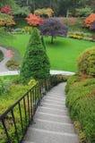 Stairway do jardim Imagens de Stock Royalty Free