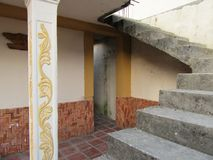 A stairway and a doorway of a Venezuelan house. Stock Photos
