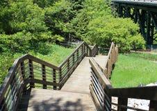 Stairway Down to Lake Michigan Royalty Free Stock Image