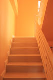 Stairway. Downstairs to the atmosphere of the interior look. It is a lot more royalty free stock image