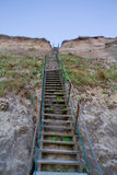 Stairway on the dunes Royalty Free Stock Image