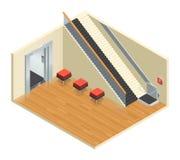 Stairway Elevator Isometric Interior Stock Photos