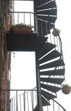 Stairway espiral. Acesso externo. imagem de stock royalty free