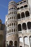 Stairway espiral de Scala Bovolo em Veneza Imagem de Stock