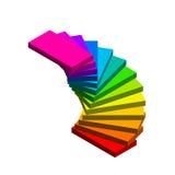 Stairway espiral No fundo branco colorfu do vetor 3d ilustração stock