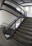 Stairway Fisheye B/W. An indoor stairway Royalty Free Stock Image