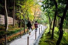 Stairway Ginkakuji, the silver pavilion. Stock Image