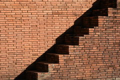 Stairway going up the old city wall in Chiangmai,Thailand. Royalty Free Stock Image