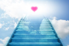 Stairway going up to the heart Stock Photo