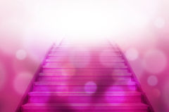 Stairway going up to white light Royalty Free Stock Photography