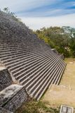 Stairway of the Grand Pyramid at the ruins of the ancient Mayan city Uxmal, Mexi. Co royalty free stock image