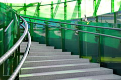 Stairway with green glass Stock Image