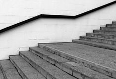 Stairway with handrail. Royalty Free Stock Image