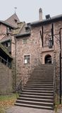 Stairway at the Haut-Koenigsbourg Castle Royalty Free Stock Image
