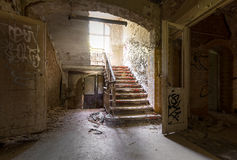 Stairway at Heal clinics of Beelitz Stock Photos