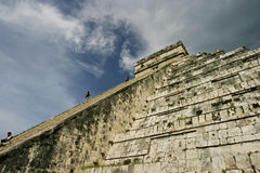 Stairway Heaven. Mayan Pyramid at Chitzen-itsa Royalty Free Stock Photos