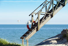Stairway from heaven. To the beach Royalty Free Stock Photo