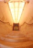 Stairway interior em Castelo de Chenonceau France fotografia de stock