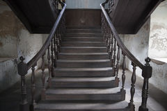 Stairway interior in old living house, Stock Images