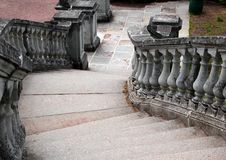 Stairway leading down Royalty Free Stock Photo