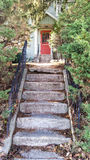 Stairway leading to old house Royalty Free Stock Images