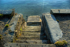 Stairway leading to the river Royalty Free Stock Image