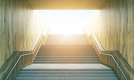 Stairway leading to sunshine Royalty Free Stock Image