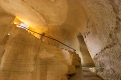Stairway leading to surface at underground caves, Beit Govrin, I Stock Images