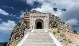 Stairway leading to tunnel and mausoleum of Peter Njegosh, Monte Royalty Free Stock Photography