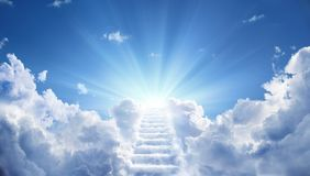 Free Stairway Leading Up To Heavenly Sky Stock Photography - 116201682