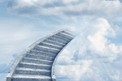 Stairway to heaven. Stairway leading up to heavenly sky Royalty Free Stock Photography