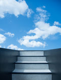 Stairway leading up to sky Stock Images