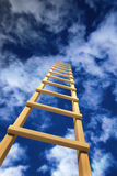 Stairway leaving in storm sky. Stairway leaving in solar blue sky Royalty Free Stock Photos