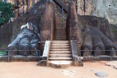 Stairway lion paw in Sigiriya, Sri Lanka Stock Images