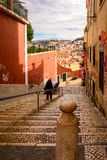Stairway in Lisbon Royalty Free Stock Photos