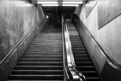 Stairway at Train Station. Stairway at the local trainstation Royalty Free Stock Photo