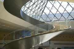 Stairway at the Louvre Museum, Paris, France Royalty Free Stock Photography