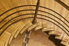 Stairway in luxury home. Wooden stairway in luxury home Stock Image