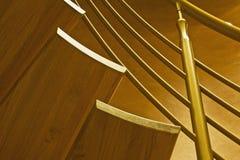 Stairway in luxury home. Wooden stairway in luxury home Royalty Free Stock Image