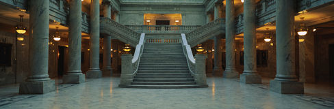 Stairway and marble columns, Utah State Capitol Royalty Free Stock Photos