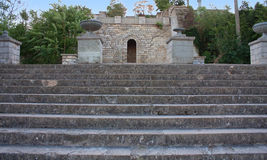 Stairway on the Mitridat mountain in Kerch Stock Photo