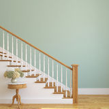Stairway in the modern house. White stairway in the modern house. 3d render royalty free illustration