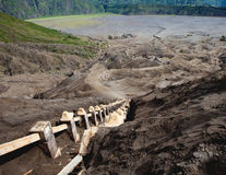 Stairway Mount Bromo Volcano, East Java Royalty Free Stock Photography