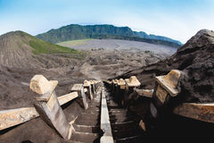 Stairway Mount Bromo Volcano, East Java Stock Photos