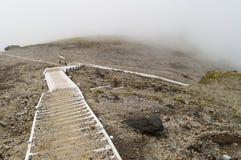 Stairway on the mountain Stock Photos